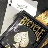 Bicycle Black and Gold Rider Back Playing Cards