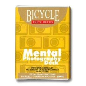 Bicycle Mental photo deck blauw