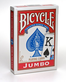 Bicycle rider back jumbo index rood