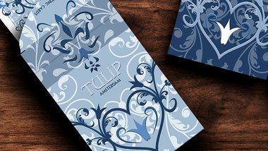 Tulip Playing Cards (Light Blue) by Dutch Card House Company