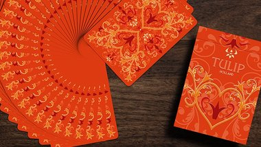 Tulip Playing Cards (Orange) by Dutch Card House Company