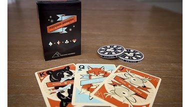 Woodland (black) Playing Cards