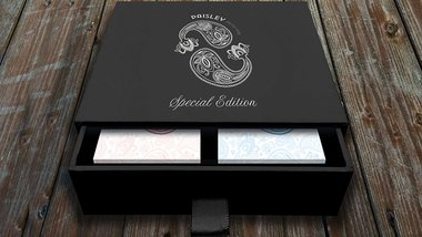 Special Edition Diamon Playing Cards Paisley Box Set (Ruby Red and French Blue)