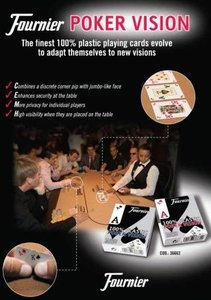 Poker Vision Plastic blauw